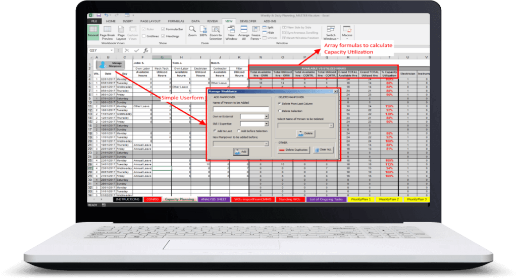 Excel Userform Templates